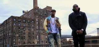 "50 Cent ""Big Rich Town"" music video scene"
