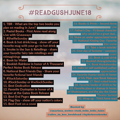 Read Gush June 2018 Bookstagram Challenge on Reading List
