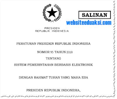 Peraturan Presiden Nomor 95 Tahun 2018
