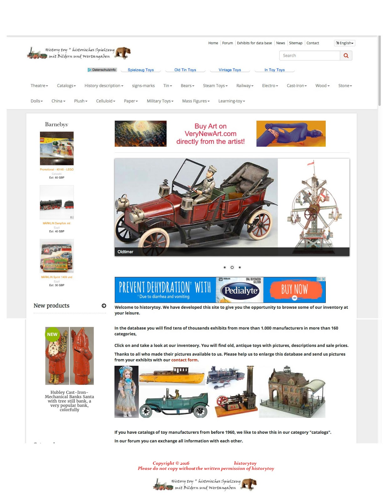 Used Toys Website : Old antique toys the fantastic quot historytoy website