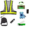 Deluxe Safety Dog Walking Kit with LED Dog Collar (small),Reflective Vest, Portable Water bottle,Waste bags, dispenser,Retractable Leash,Flashlight! Great Price!