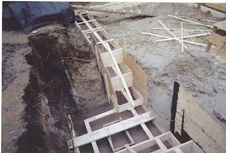 Stepped Foundation is being constructed