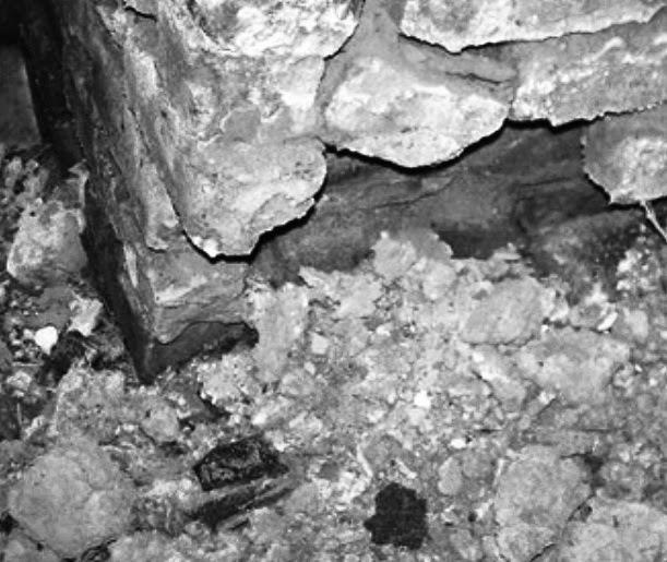 Disruption of brick foundation