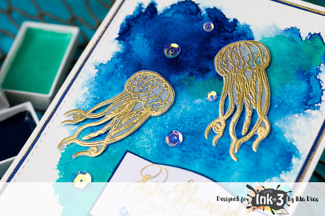 Jellyfish Friends - Mariner Mermaid Ink on 3 by ilovedoingallthingscrafty