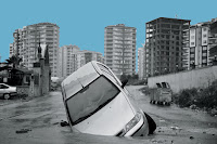 Flooded car (Photo Credit: Sezgin Pancar—Anadolu Agency/Getty Images) Click to Enlarge.