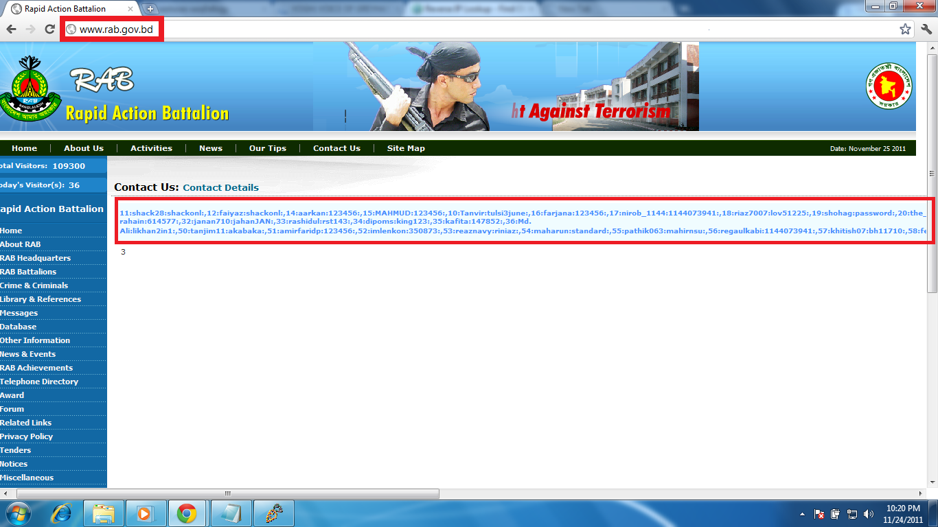 Rapid Action Battalion Bangladesh (RAB) Hacked By TEAM T!g3R ~ VOGH