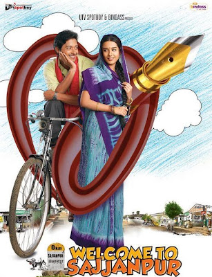 Poster Of Bollywood Movie Welcome to Sajjanpur (2008) 300MB Compressed Small Size Pc Movie Free Download worldfree4u.com