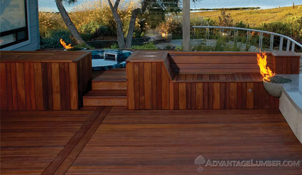 Ipe decking wooden porch
