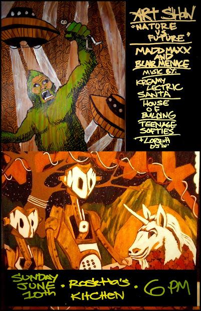 Blair Menace Art Show Flyer