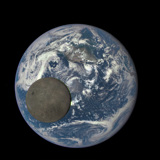 Earth and the far side of the Moon