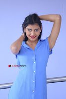 Telugu Actress Mounika UHD Stills in Blue Short Dress at Tik Tak Telugu Movie Audio Launch .COM 0080.JPG