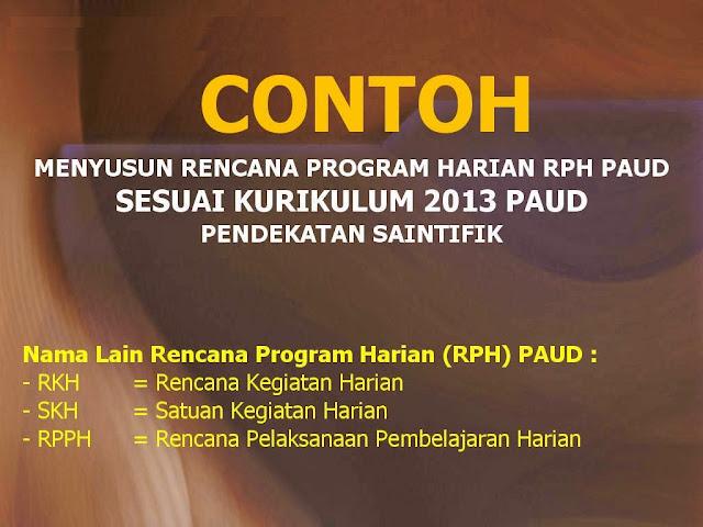 jual perangkat pembelajaran paud K13, RPPH dan RPPM PAUD TK Kurikulum 2013,
