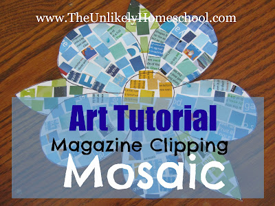 Greece Unit: Magazine Clipping Mosaics Tutorial-The Unlikely Homeschool