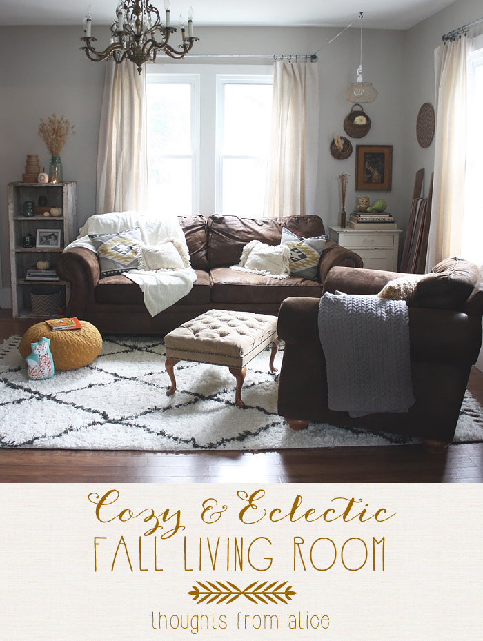 Cozy Eclectic Fall Living Room