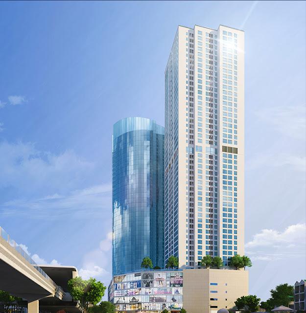 Phối cảnh khu cao tầng tại Nam Hồng Garden