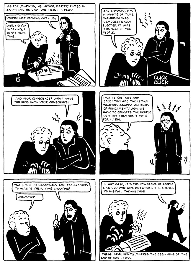 Read Chapter 8 - The Croissant, page 75, from Marjane Satrapi's Persepolis 2 - The Story of a Return