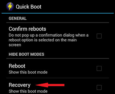 Recovery Mode Samsung Galaxy Note Quick Boot App