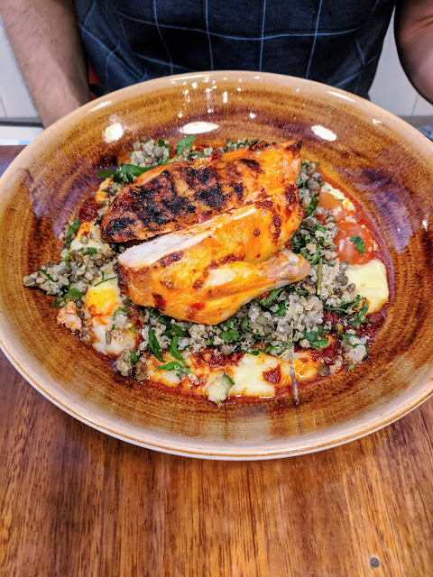 Where to eat in Belfast: chicken and quinoa at Home Restaurant