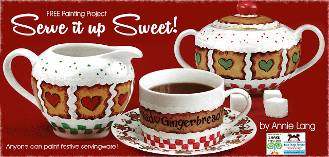 You can download this DIY Serve it up Sweet whimsical gingerbread project designed by Annie Lang for FREE at Annie Things Possible!