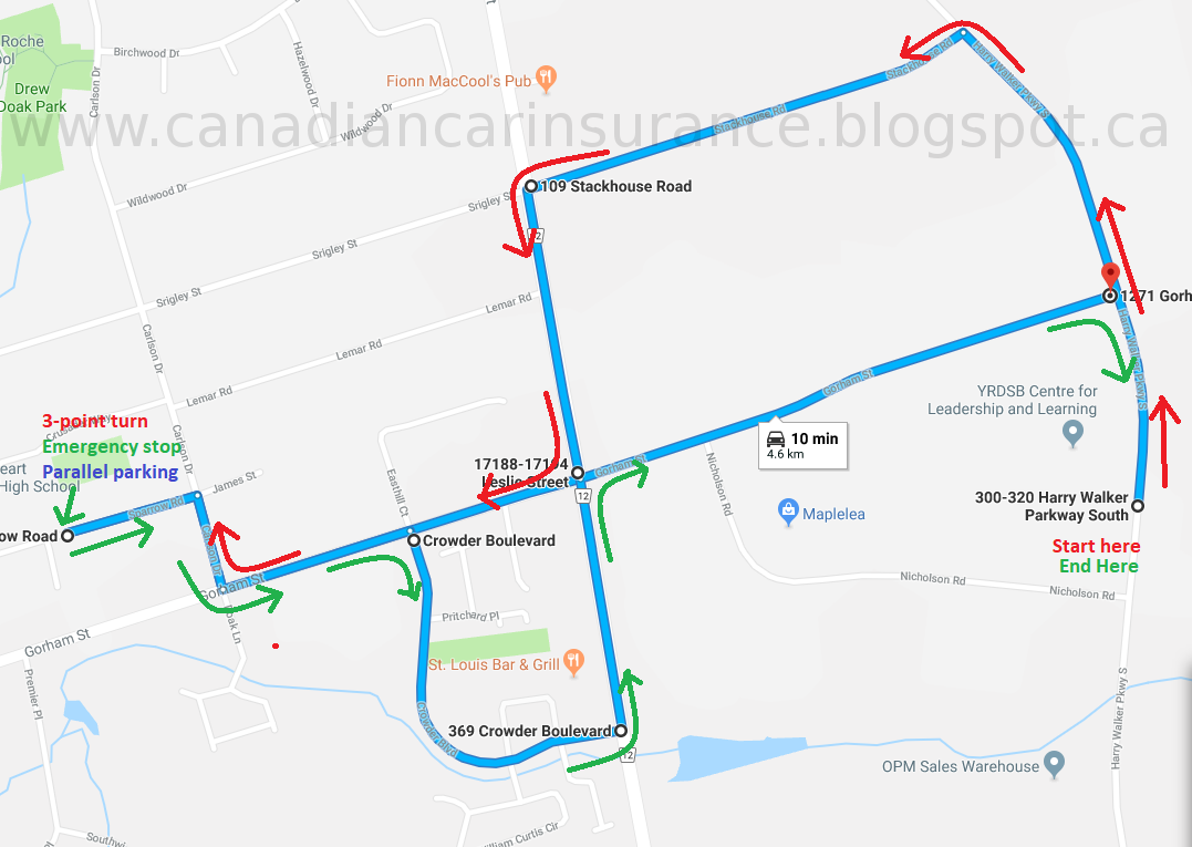 Newmarket Drive Test Centre >> Newmarket G2 Road Test Route Maps