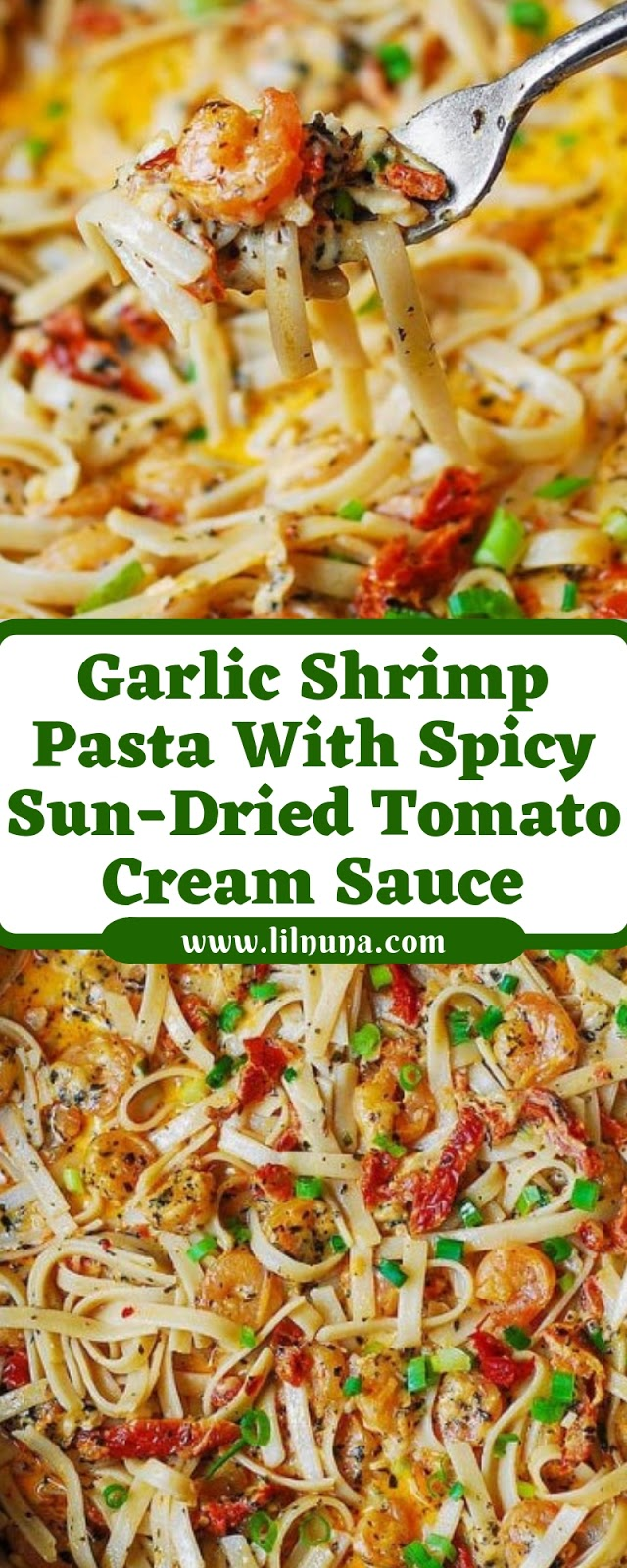 Garlic Shrimp Pasta With Spicy Sun-Dried Tomato Cream Sauce