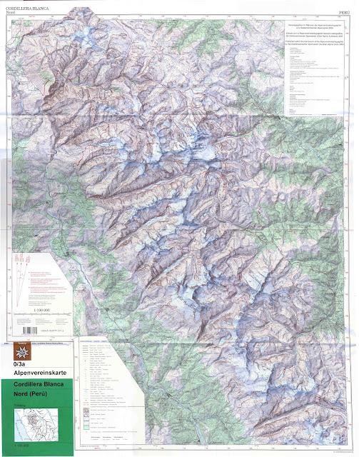 Cordillera Blanca ( Nord ) - 100 000