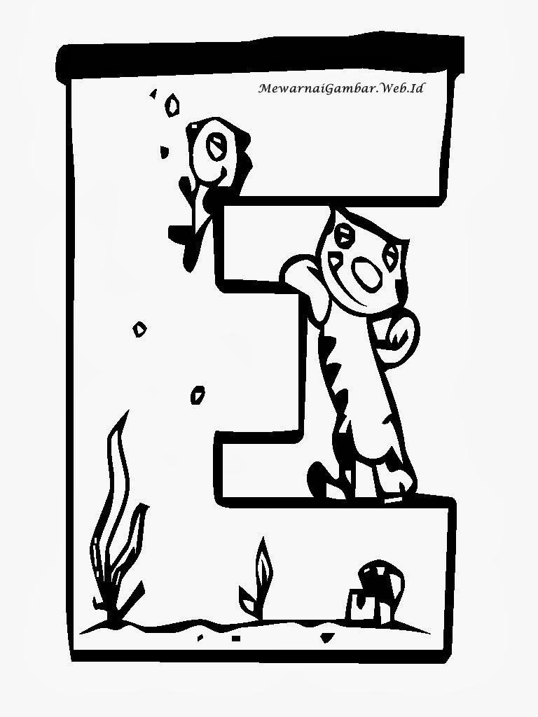 Kumpulan Gambar Mewarnai Aquarium