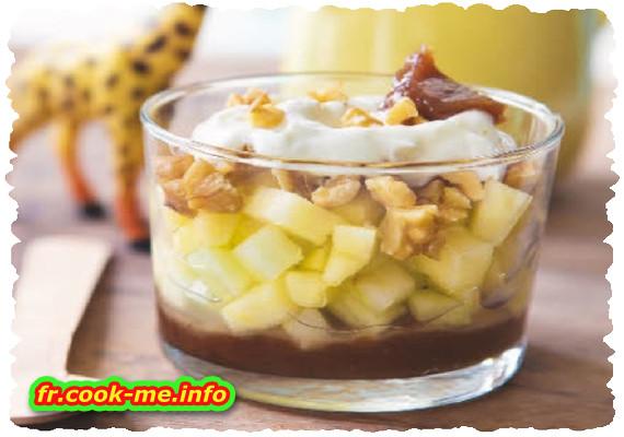 Trifle pomme-noix-châtaigne