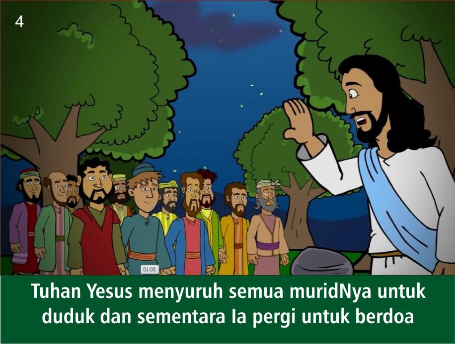 Komik Alkitab Anak Tuhan Yesus Di Taman Getsemani