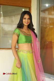 Actress Nikitha Bisht Stills in Lehenga Choli at Pochampally Ikat Art Mela Launch  0014.JPG