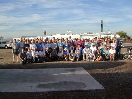 Group shot at 2003 satellite rally