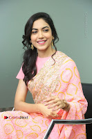 Actress Ritu Varma Pos in Beautiful Pink Anarkali Dress at at Keshava Movie Interview .COM 0214.JPG