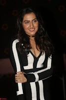 Ananya Soni in a Deep neck white blackl Dress at Shamanthakamani pre release function ~  Exclusive 082.JPG
