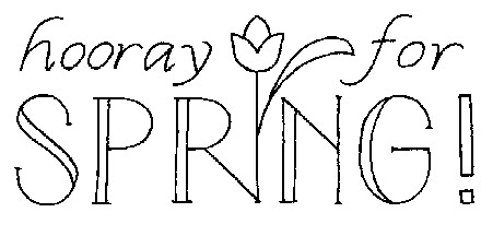 Happy Spring Black And White Clipart