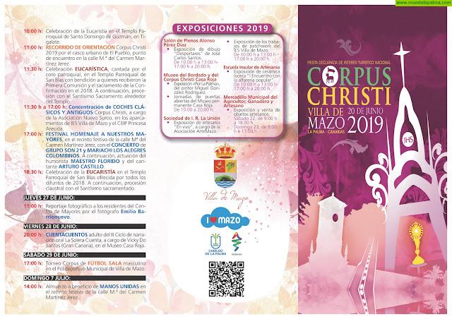 Programa de Actos Fiestas del Corpus Christi 2019 - Villa de Mazo