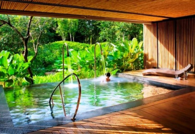 Outdoor bathroom design natural open air bathroom plans for Open air bathroom designs