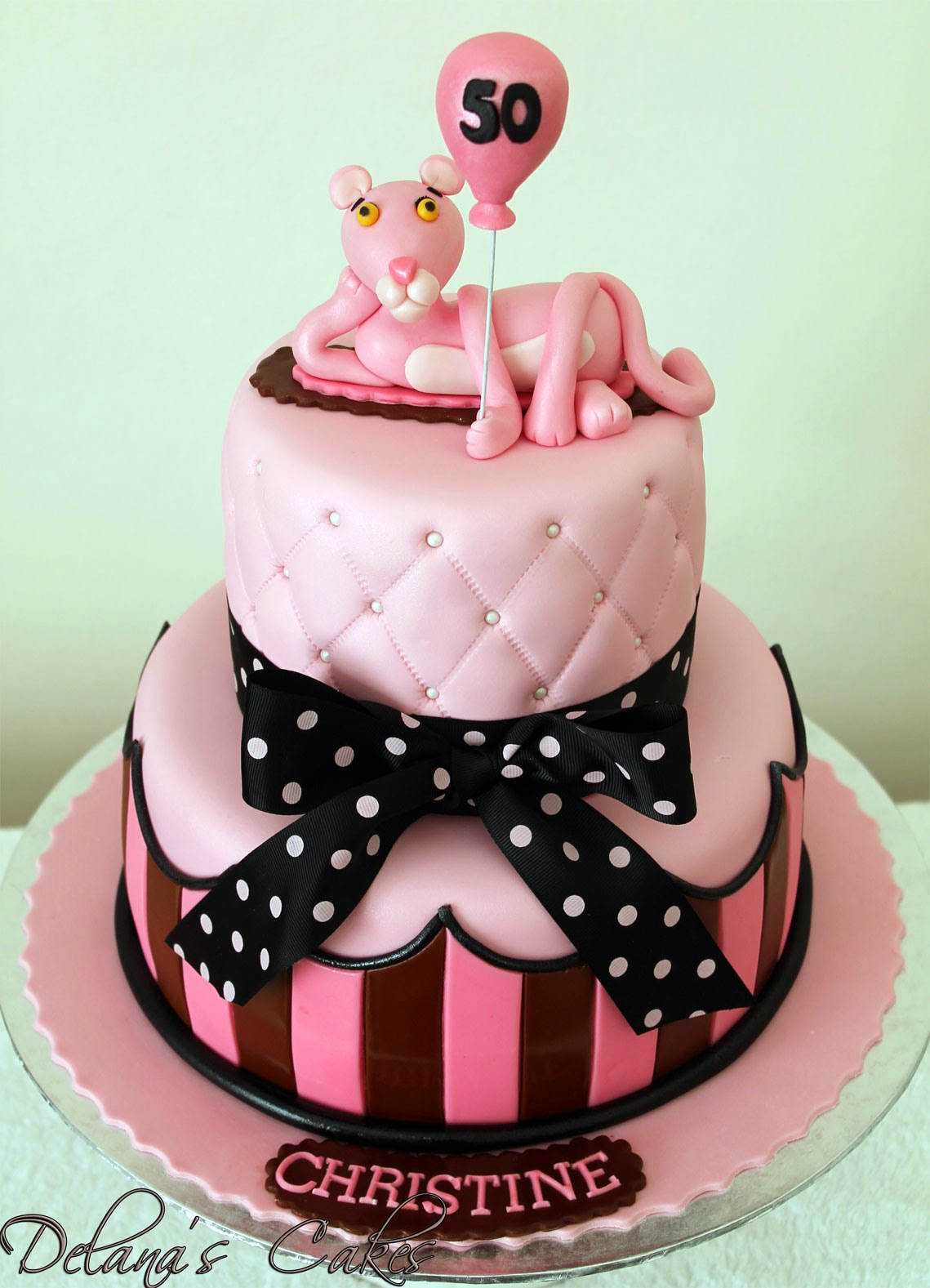 Delanas Cakes Pink Panther Cake
