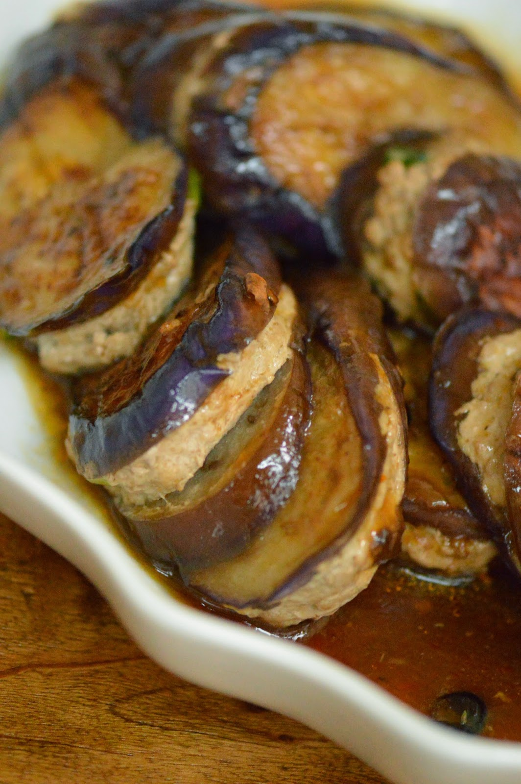 Dimsumptuous Chinese Stuffed Eggplant 煎釀茄子