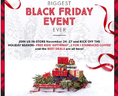 Chapters Indigo Black Friday Free Kids GiftWrap, BOGO Starbucks Coffee + Best Deals