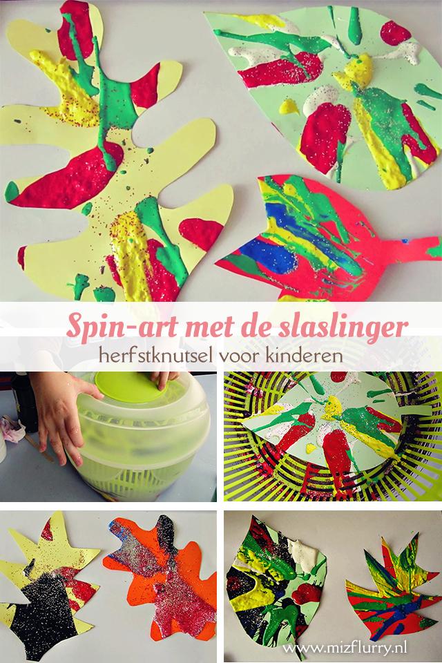 spin art slaslinger herfst knutselen