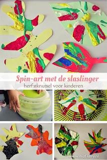 Herfstknutsel: herfstblad knutselen en schilderen met de slaslinger