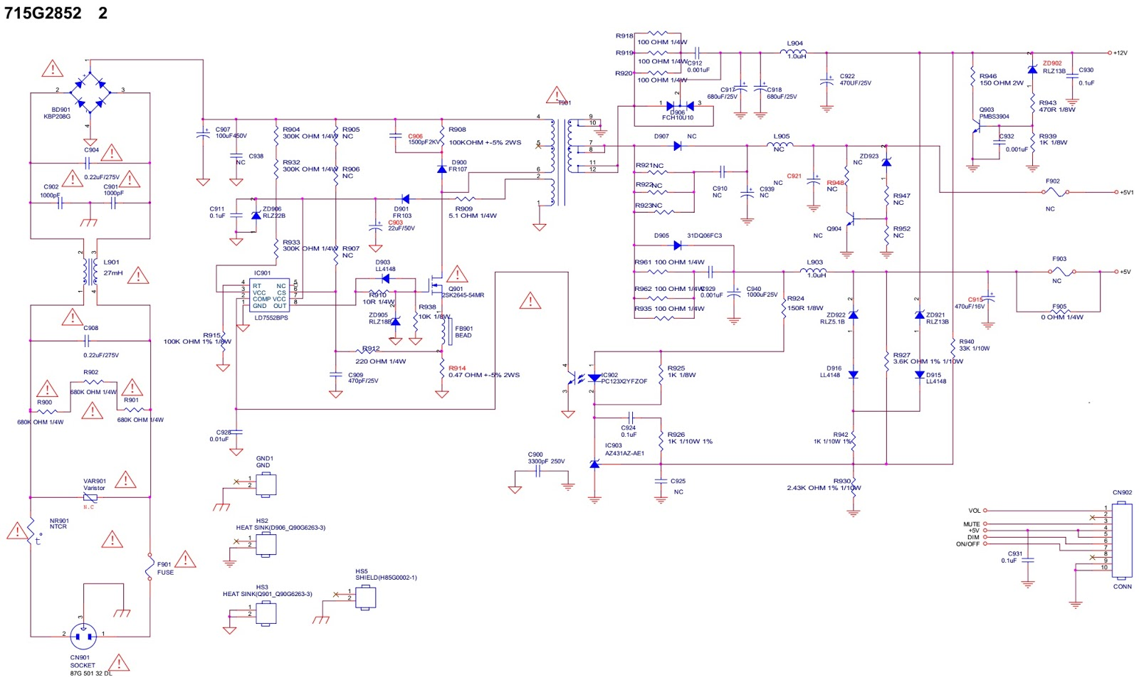 Hcl And Samsung 15 Inch Lcd Monitor How To Enter The Service Mode Smps Inverter Circuit 715g2852 2 Board Diagram Schematic Pwb Back Light