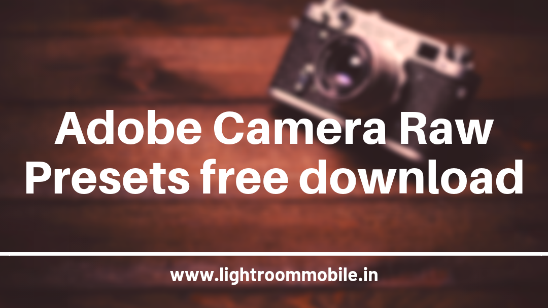 Adobe Camera Raw free download for photoshop | Lightroom
