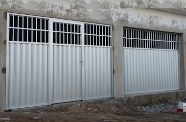 Portão em alumínio branco 39