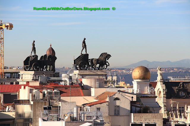 Quadriga, viewed from Círculo de Bellas Artes, Madrid, Spain