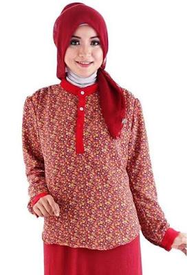Contoh Baju Batik Remaja Berjilbab