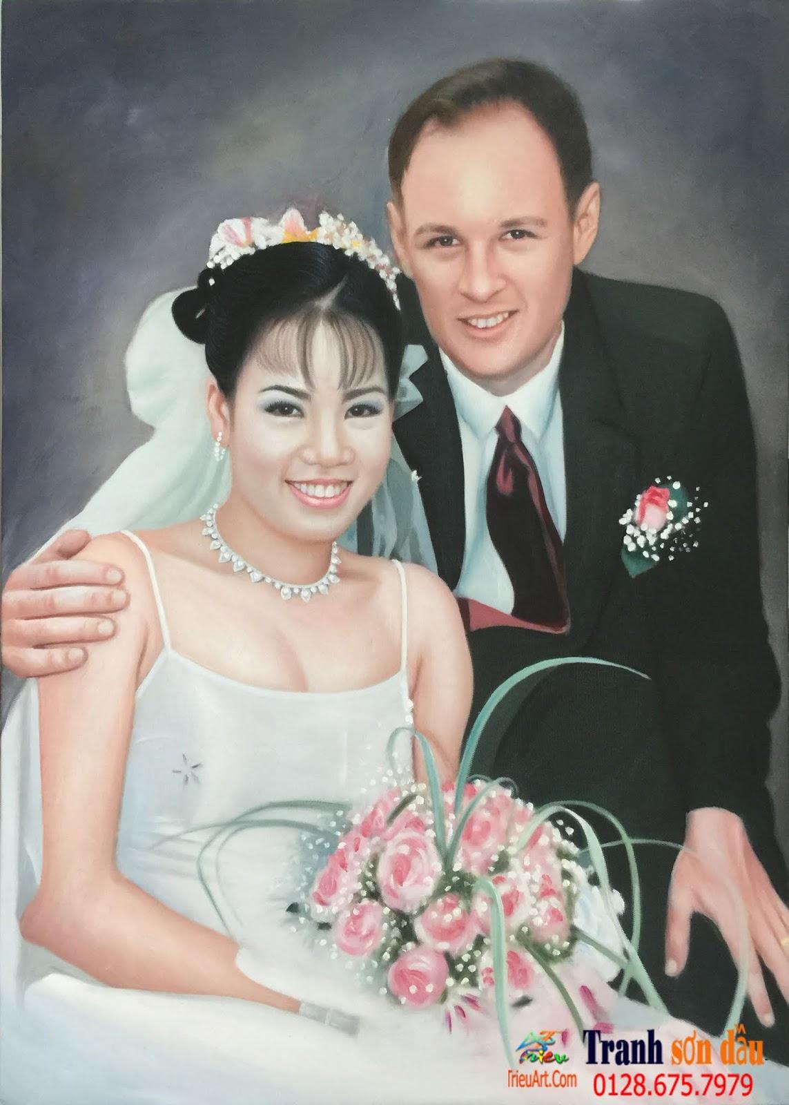 chân dung vợ chồng