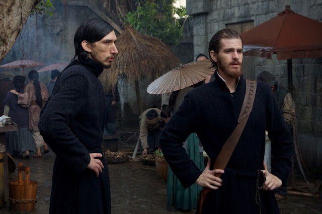 Andrew Garfield (right) and Adam Driver as Jesuit Priests in Silence, Martin Scorsese
