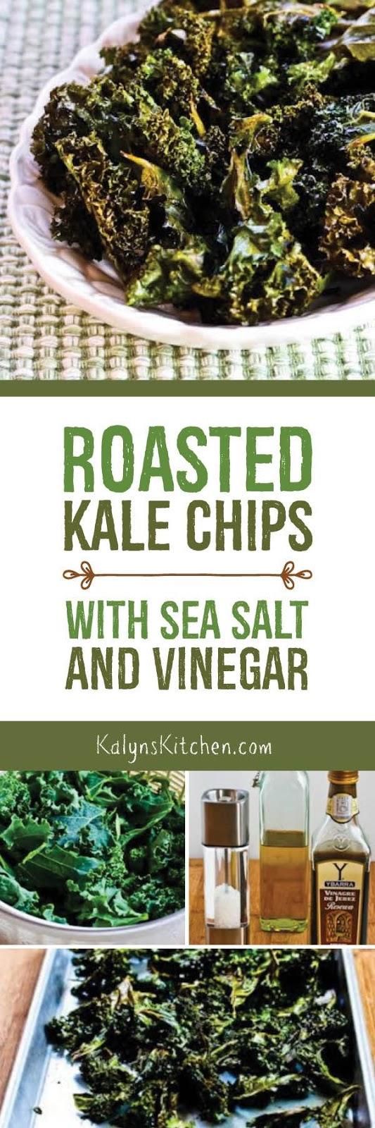 Roasted Kale Chips with Sea Salt and Vinegar found on KalynsKitchen ...