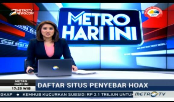 JITU: Metro TV Telah Sebarkan Berita Hoax